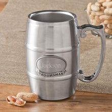 Load image into Gallery viewer, Personalized Tankard with Pewter Medallion