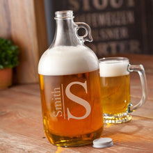 Load image into Gallery viewer, Personalized Growler - Beer - Glass - 64 oz.