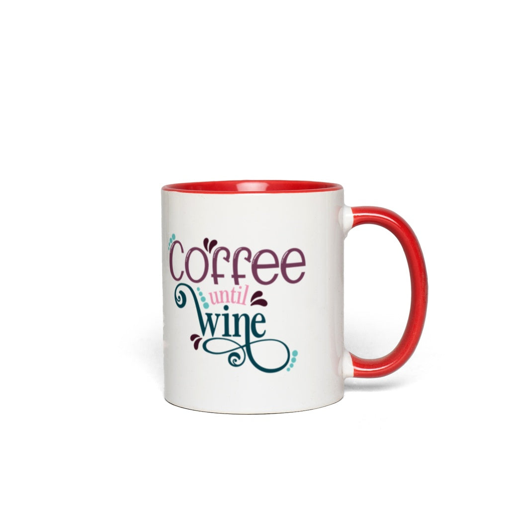 Coffee until wine.