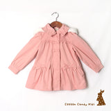 Cotton-padded jacket with bows