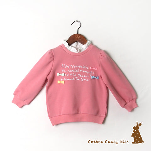 Cute girl sweatshirt with split hem