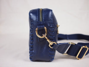 Prague Crossbody Bag in Midnight Blue