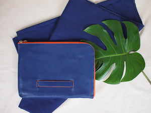 Oxford Document Clutch in Blue