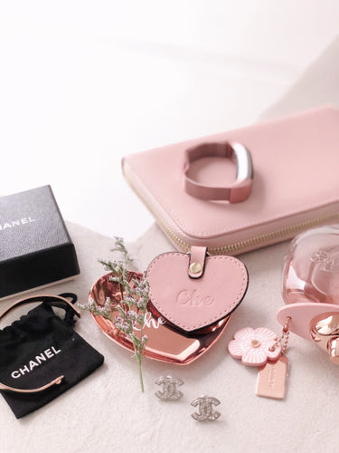 Valentine's Blush [BUNDLE] - Copenhagen Wallet in Blush & Paris Keyring in Blush