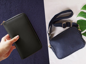 BUNDLE: Prague Crossbody Bag Black & Copenhagen Wallet Black