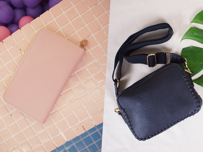 BUNDLE: Prague Crossbody Bag Black & Copenhagen Wallet Blush Pink