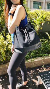 California Bucket Bag - Jet Black