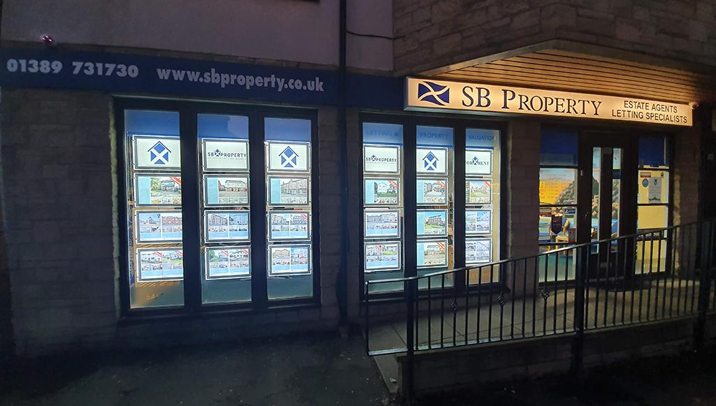 Sb Property exterior of estate agents