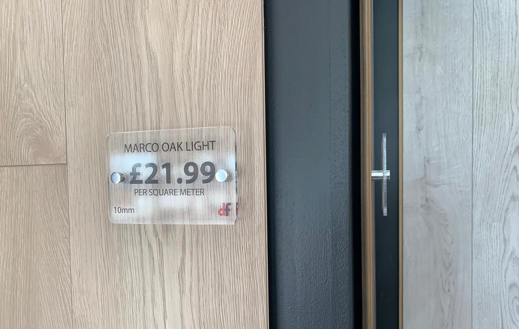 direct flooring sign fixings for retail