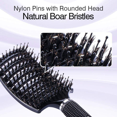 MAGICBRUSH® Bristle Nylon Straightening Hairbrush For Men & Women