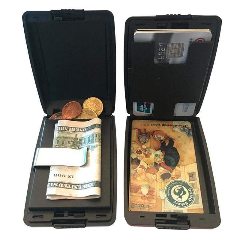 RFID Secure Cash Coin and Cards Wallet
