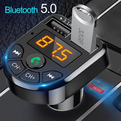 FMTECH® 2.0 - Hand Free FM Transmitter With Bluetooth 5 Enhanced voice reception & Power Off Memory Technology