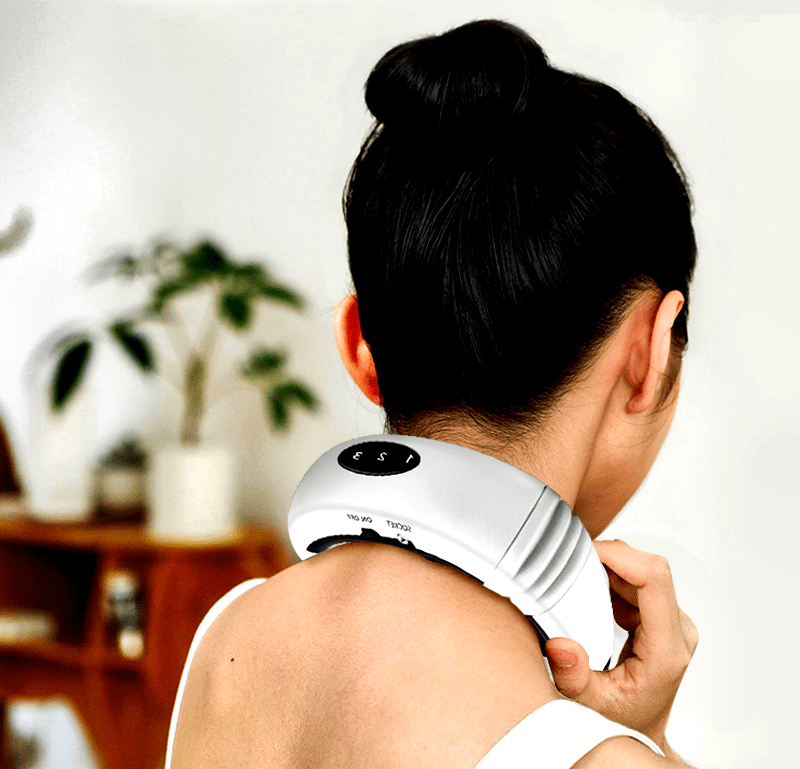 neck massager best back electric pulse neck massager heat massager for neck pain