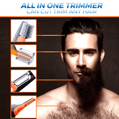 MICROTOUCH® Max Model Upgraded -  6-In-1 Hair Trimmer - Face Neck Nose Ears Sideburns Body