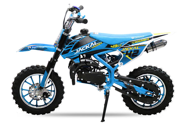 "Mini dirt bike Jackal 49 cc | Easy pull start | 10"" Wheels 