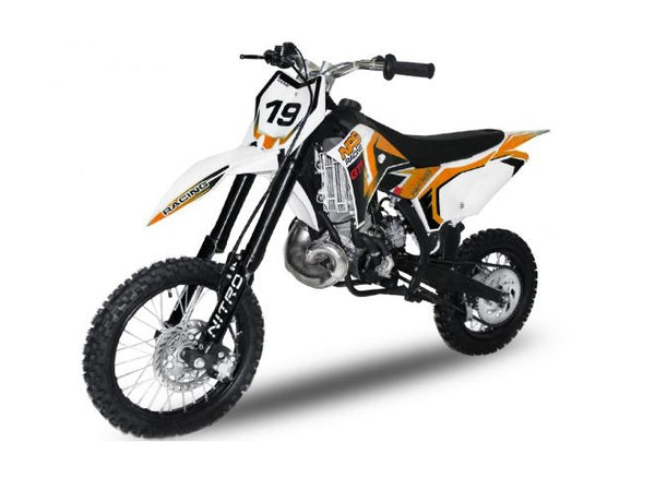 "Mini dirt bike NRG65 GT 50 cc | Kick start | 14"" / 12"" Wheels 