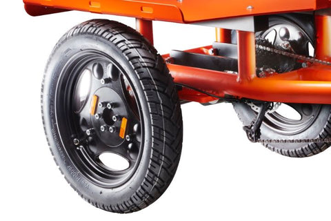 Highly stable spokeless rear wheels