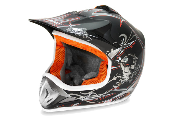 Xtreme Children Motocross Helmet Black