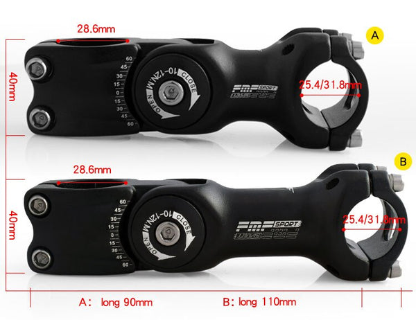 FMFXTR Bicycle Stem Riser 25.4x90/110cm&31.8x90/110cm