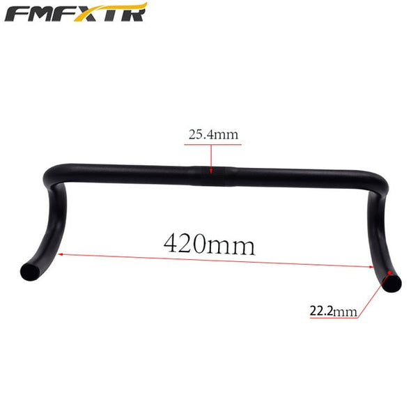 FMFXTR Bicycle handlebar 25.4 aluminum alloy handlebar road bike curved handlebar ultralight handlebar