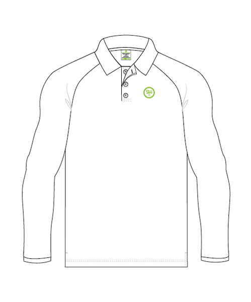SW23 Men's Club Polo Long Sleeve - White