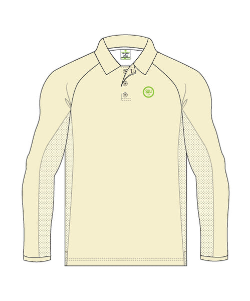 SW23 Men's Long Sleeve Elite Polo (Creams)