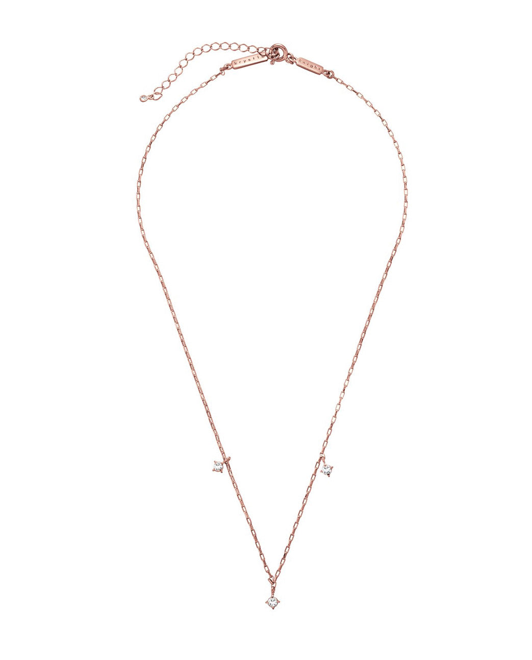 SHIMMERING PRECIOUS NECKLACE- ROSE GOLD- WHITE SAPPHIRE