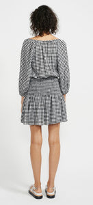 ANNIKA SHIRRED MINI BLACK CHECK