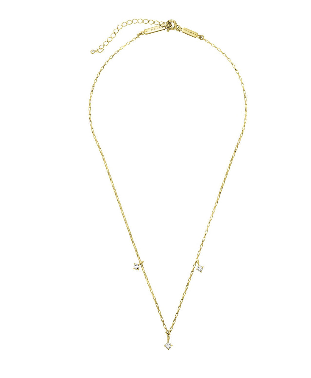 SHIMMERING PRECIOUS NECKLACE- GOLD- WHITE SAPPHIRE
