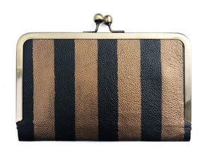 HOLD ALL WALLET IN PAINTED STRIPES