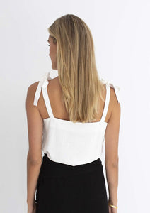 CUTE AS A BUTTON TOP-IVORY
