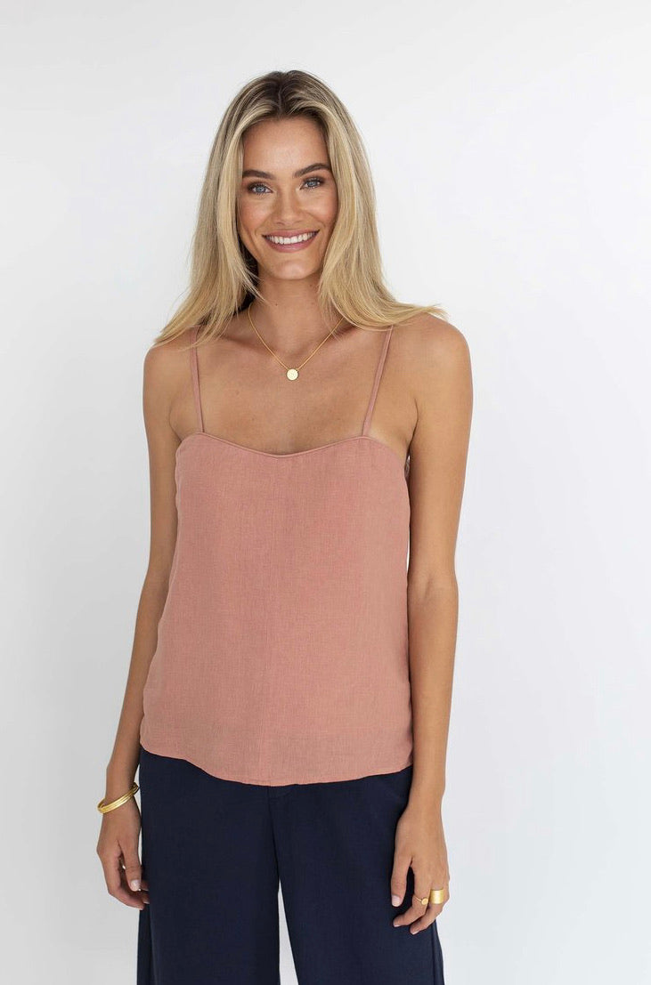 CAPRI CAMI - ROSE CLAY