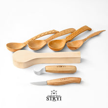 Load image into Gallery viewer, Spoon carving tools set 2pcs in wooden box  STRYI