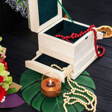 Load image into Gallery viewer, Basswood blank of jewelry box with secret sections for wood carving decoration, scrapbooking or another