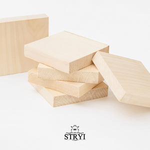Small lime board for carving, decoration, scrapbooking, 10*10*2cm
