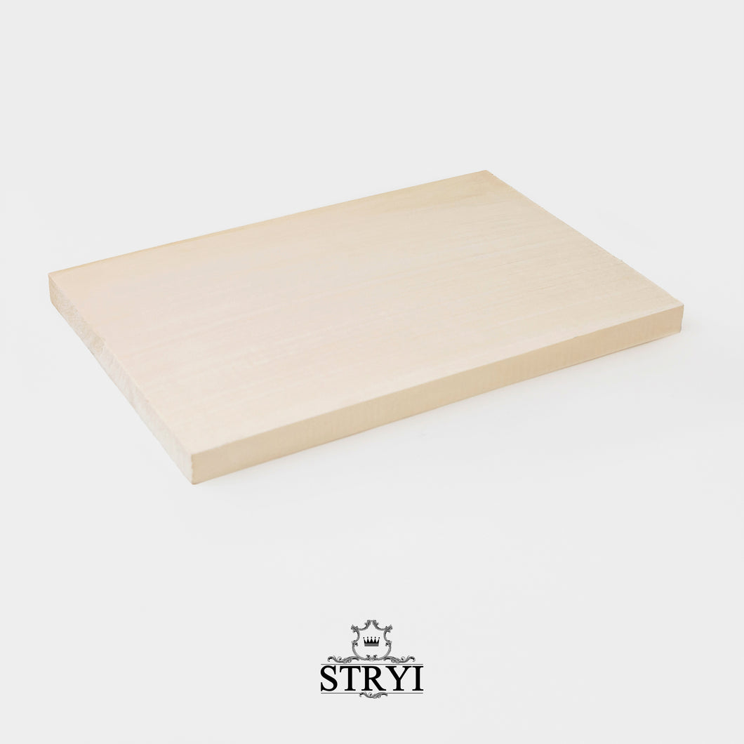 Basswood board for carving 30*20*2cm, wood blank for wood carving, decoration, scrapbooking, practice board