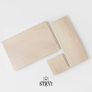 Lime board for carving, wood blank for wood carving, decoration, scrapbooking, 30*12cm
