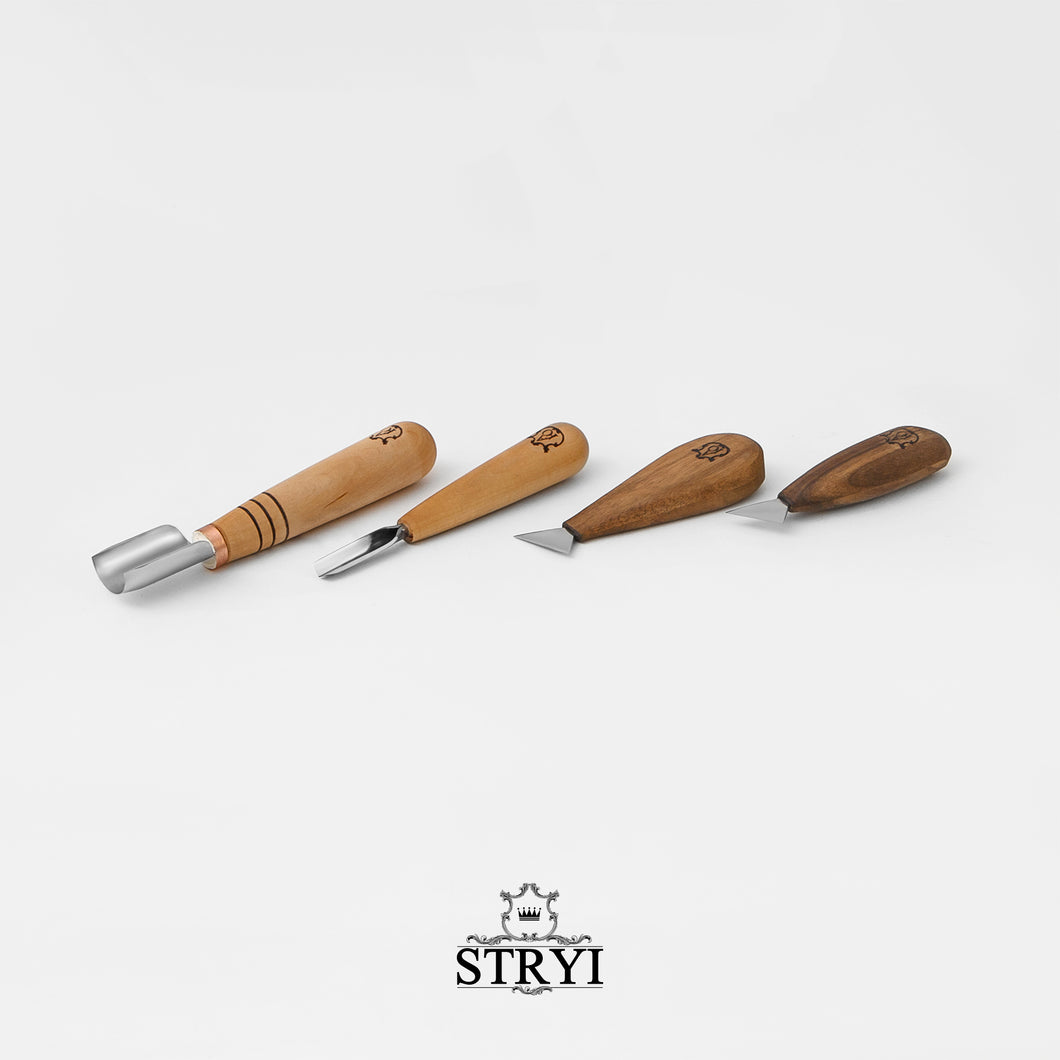 Basic wood carving tools set STRYI & Adolf Yurev