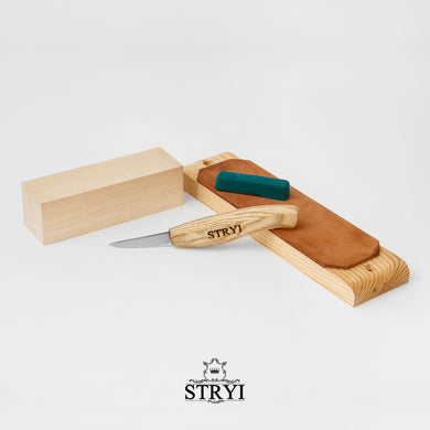 Must Have - Figures carving kit - knife with basswood blank STRYI