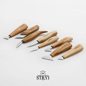 Woodcarving knives set for woodcarver STRYI