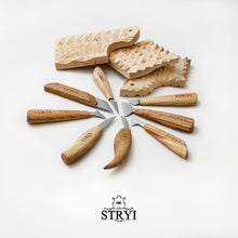 Load image into Gallery viewer, Woodcarving knives set for woodcarver STRYI
