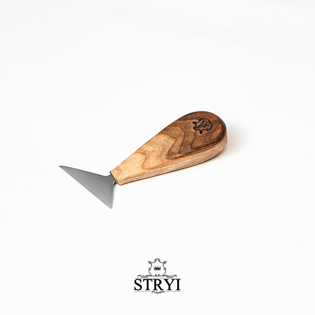 Knife for wood carving 65mm, chip carving knife STRYI Adolf Yurev