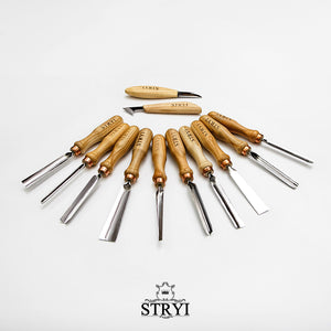 Woodcarving tools set 12pcs STRYI for beginners