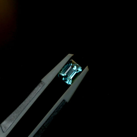 0.98ct Rectangular Teal Tourmaline