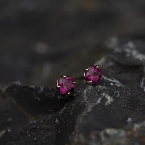 Raspberry Purple Garnet Earrings