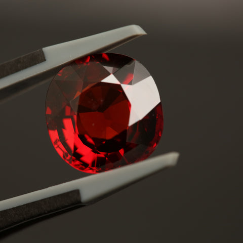 9.73 Cushion Cut Red Garnet