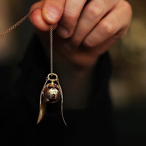Golden Snitch Pendant necklace Harry Potter Official Fine Jewellery Collection Warner Bros Licensed Gift