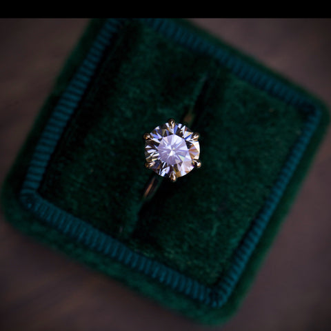 Silver Moissanite Isela Ring