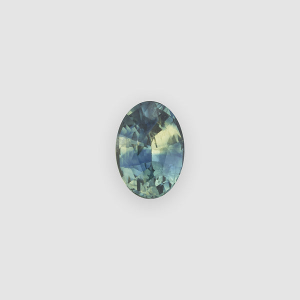 1.00ct Oval-Shaped Bicolor Teal & Yellow Sapphire