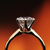 5th avenue ring setting modeled with diamond